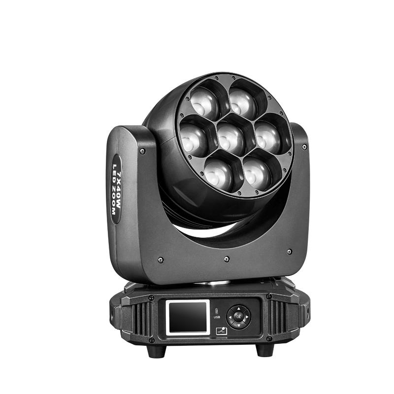 7x40w LED调焦摇头灯